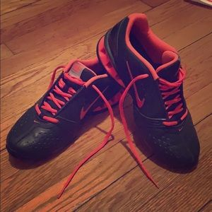 Nike Black/Pink Reax Rockstar Training Sneakers